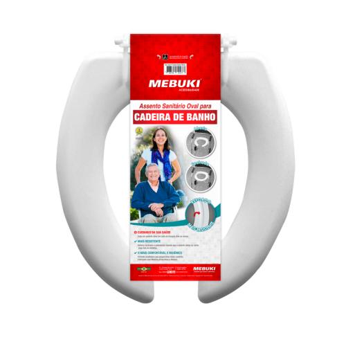 Cadeira de banho aberto oval - Alento Hospitalar