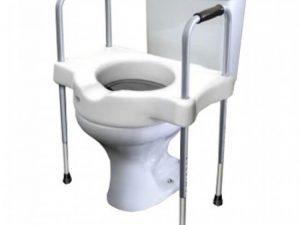 Elevação assento sanitário com alças - Alento Hospitalar