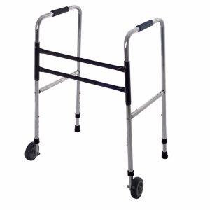 Andador alumínio 2 rodas - Alento Hospitalar