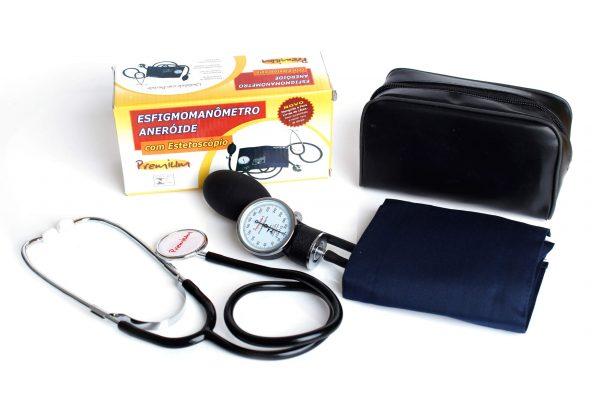 Esfigmomanômetro aneróide com estetoscópio - Alento Hospitalar
